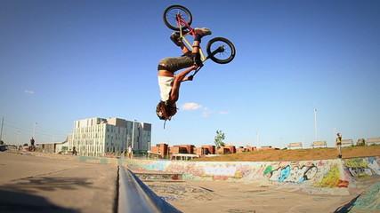 Extreme Sport BMX Backflip