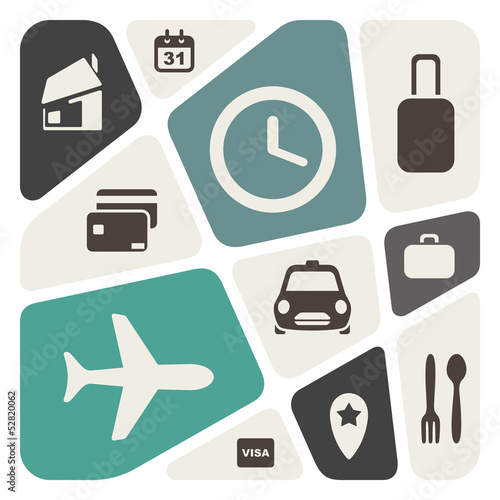 Airport and airlines services abstract background