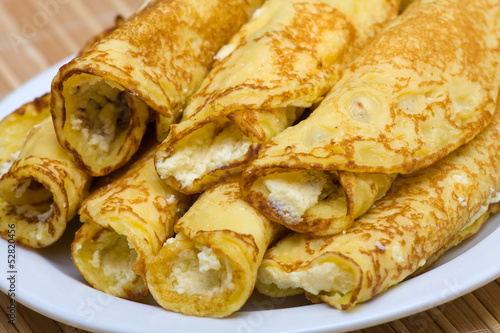Blintzes (cheese pancakes)