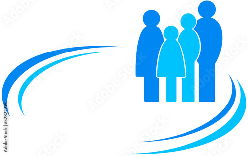 icon with family and design element