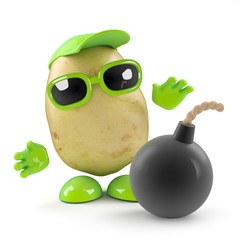 3d Potato finds a bomb