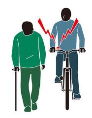 道交法違反 人に対してベルをならす自転車