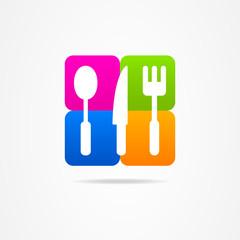 kitchen set logo icon sign