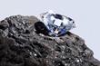 Leinwandbild Motiv Diamond and Coal
