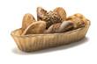 Frühstücksbrot-Korb voller Brot