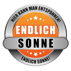 5 Star Button orange ENDLICH SONNE ES ES