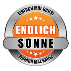 5 Star Button orange ENDLICH SONNE EMR EMR