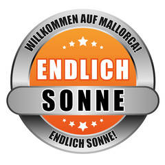 5 Star Button orange ENDLICH SONNE WAM ES