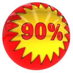 Ninety percent ball