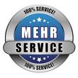5 Star Button blau MEHR SERVICE 100PCT 100PCT