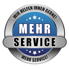 5 Star Button blau MEHR SERVICE WHIG MS