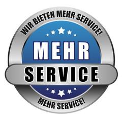 5 Star Button blau MEHR SERVICE WBMS MS