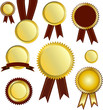 Medaille Plakete Gold Vector