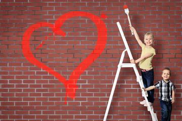 Kinder malen Herz