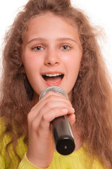teen girl singing
