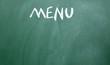 menu title drawn with chalk on the blackboard