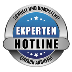 5 Star Button blau EXPERTEN HOTLINE SUK EA