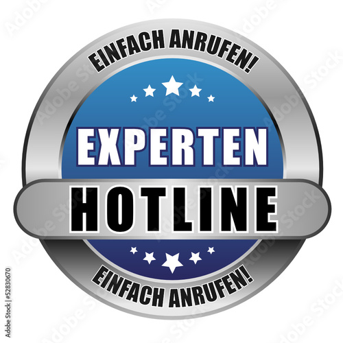 5 Star Button blau EXPERTEN HOTLINE EA EA