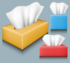 Tissue box set