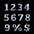 Diamond numbers set - eps10