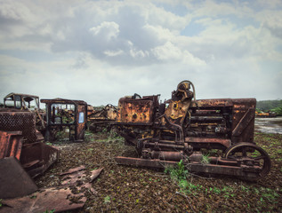 heavy scrap machinery