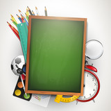 Fototapety School background with copyspace