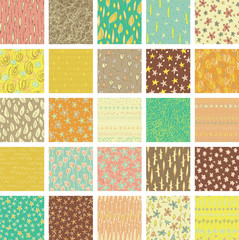 Set of 25 Different Seamless Patterns