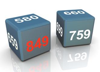 3d credit score dice