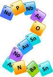 Periodic Table Of Elements Number 2 poster