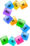 Periodic Table Of Elements Number 5 poster