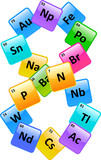 Periodic Table Of Elements Number 8 poster