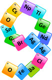 Periodic Table Of Elements Number 9 poster