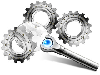Gears in Magnifying Glass