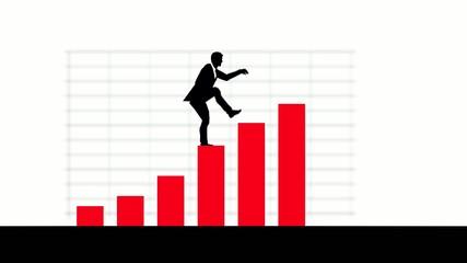 Ein Businessmann und seine Bilanz