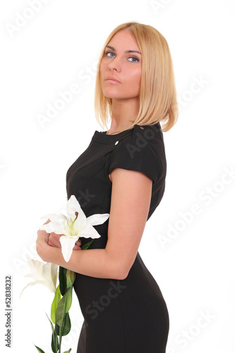 girl with a flower lily