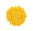 freigestellte gelbe Linsen