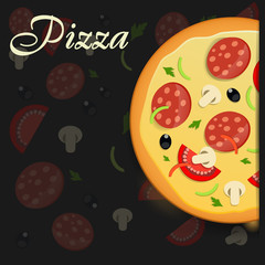 Pizza menu template vector illustration