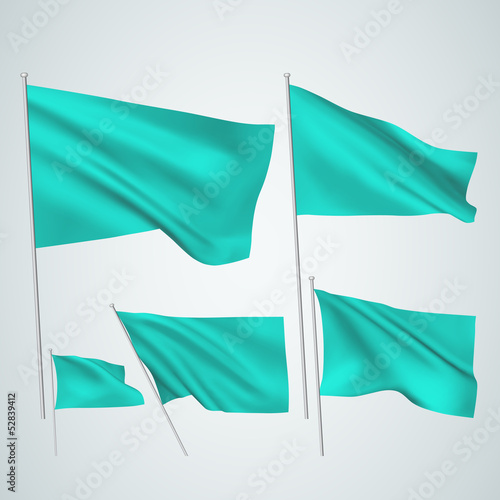 Cyan vector flags