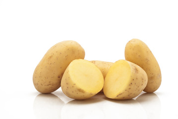 New potatoes isolated