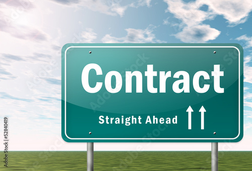 "Highway Signpost ""Contract"""