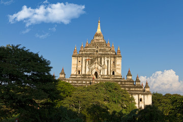 Thatbyinnyu temple in the morning in Bagan Burma