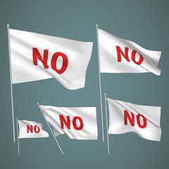 No - white vector flags