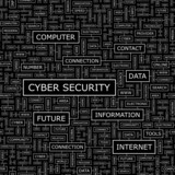 CYBER SECURITY. Word cloud concept illustration.