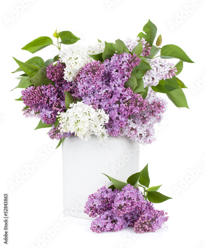 Foto op Canvas Lilac Lilac flowers in vase