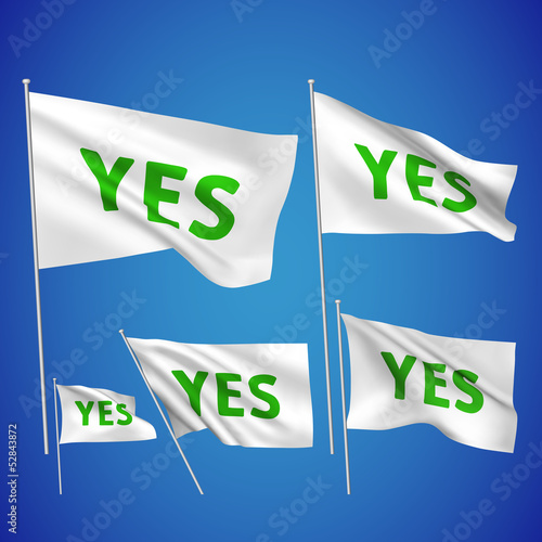 Yes - white vector flags