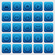 Blue buttons vector set