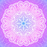 Indian ornament, mandala in pink