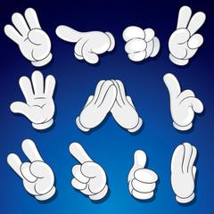 Comics Cartoon Hands, Gestures, Signs