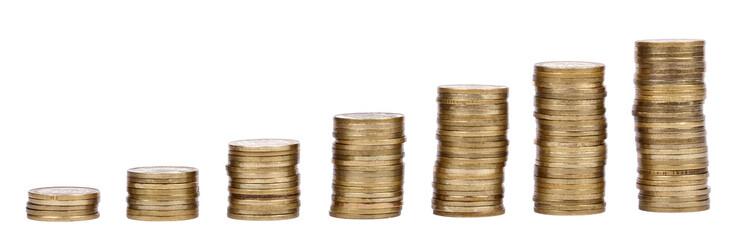 Growing Stacks of Golden Coins
