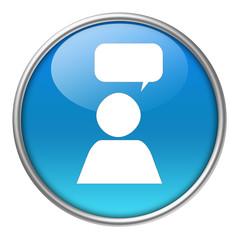 Bottone vetro social network